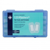 Advanced Washproof 123 Plasters for Cuts and Grazes (Pack of 25)