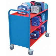 Aluminium Double Sided 60 Lunch Box Storage & Transportation Trolley