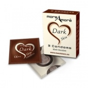More Amore Dark Skin Black Chocolate Condoms 3 Pack