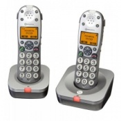 Amplicom PowerTel 702 Cordless Amplified Telephones Twin Pack