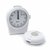 Amplicomms CL100 Talking Analogue Alarm Clock With Wireless Vibrating Pad