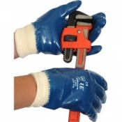 Armanite Blue Fully Coated Knit Wrist Gloves