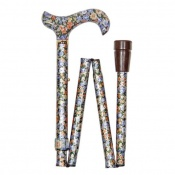 Adjustable Folding Elite Derby Handle Autumn Gold Walking Stick