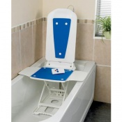 Bathmaster Deltis Heavy Duty Reclining Bath Lift with Blue Covers