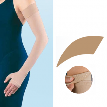 JOBST Bella Lite Compression Class 1 15 - 20 mmHg Beige Arm Sleeve with Dotted Silicone Band