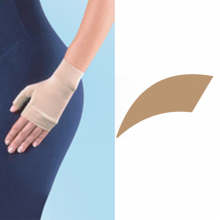 JOBST Bella Lite Compression Class 1 15 - 20 mmHg Beige Gauntlet Glove