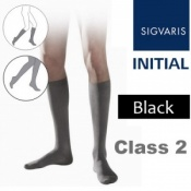 Sigvaris Initial Men's Calf Class 2 Black Compression Stockings