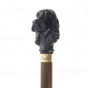 Black Cocker Spaniel Hardwood Cane