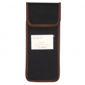 Black Wallet with Brown Trim for the Folding Walking Sticks