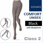 Sigvaris Unisex Comfort Class 2 (RAL) Black Compression Bodyform Tights