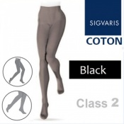 Sigvaris Coton Class 2 Black Compression Tights
