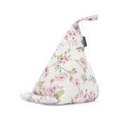 Blue Badge Company Blue Bird-Patterned Bean Bag Cushion Tablet Stand