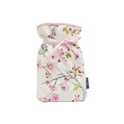 Blue Badge Company Mini Hot Water Bottle with a Blue Bird-Patterned Soft Cover