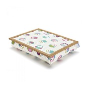 Blue Badge Company Owl-Patterned Bean Bag Lap Tray