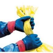 Polyco Blue Grip Cotton Knitted Liner with Full Latex Coating Safety Glove