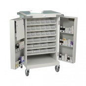 Bristol Maid Dispensing Tray Trolley with Double Doors, A and C Trays and Bolt Lock