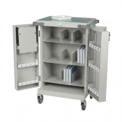 Bristol Maid Nomad Monitored Dosage Trolley with Double Doors and Bolt Lock