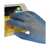 Polyco Bodyguards 4 Blue Vinyl Powdered Disposable Safety Gloves