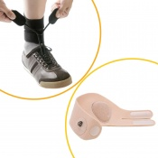 Boxia Drop Foot AFO Brace and Shoeless Attachment Bundle