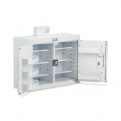Bristol Maid 1000 x 300 x 600mm Double Door Drug and Medicine Cabinet with 6 Narrow Shelves and 6 Door Shelves