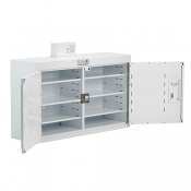 Bristol Maid 1000 x 300 x 600mm Double Door Drug and Medicine Cabinet with 6 Full Shelves and 58 NOMAD Capacity