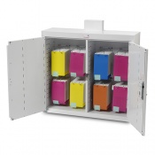 Bristol Maid 1000 x 300 x 900mm Double Door Drug and Medicine Cabinet with Light and MDS Capacity of 8 Frames