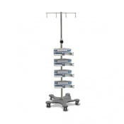 Bristol Maid Standard Capacity Four Hook Infusion Pump Stand