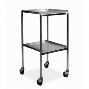 Bristol Maid Stainless Steel Dressing Trolley with 450 x 450mm Fixed Shelves, Raised Sides