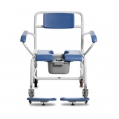 Bristol Maid Bariatric Mobile Commode Chair with Butterfly Armrests (610mm)