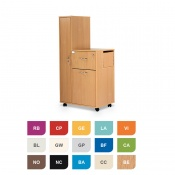 Bristol Maid Two-Tone Bedside Cabinet with Left-Hand Wardrobe (Large Drawer and Lockable Flap)