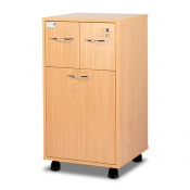 Bristol Maid Beech Bedside Cabinet (Lower Drawer and Two Top Drawers)