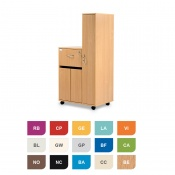 Bristol Maid Two-Tone Bedside Cabinet with Right-Hand Wardrobe (Cupboard and Lockable Flap)