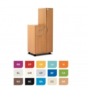 Bristol Maid Two-Tone Compact Bedside Cabinet with Left-Hand Wardrobe (Lower Drawer and Lockable Drawer)