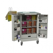 Bristol Maid Blister Packed Monitored Dosage System Trolley with Three Shelves, One Drawer and Bolt Lock