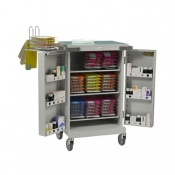 Bristol Maid Blister Packed Monitored Dosage System Trolley with Three Shelves and Bolt Lock