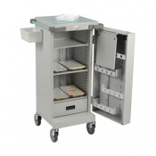 Bristol Maid Blister Packed Monitored Dosage System Trolley with Single Door, Three Shelves, One Drawer and Bolt Lock