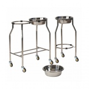 Bristol Maid Stainless Steel Tiered Two Bowl Stand