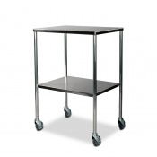 Bristol Maid Stainless Steel Dressing Trolley with 450 x 600mm Fixed Shelves