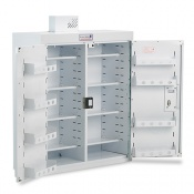 Bristol Maid 800 x 300 x 600mm Double Door Drug and Medicine Cabinet with 6 Full Shelves