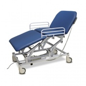 Bristol Maid Electric Three-Section Mobile Bariatric Treatment and Examination Couch with Foot Switch
