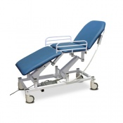 Bristol Maid Electric Three-Section Mobile Treatment and Examination Couch with Foot Switch