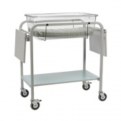 Bristol Maid Fixed Height Baby Crib with Lower Shelf