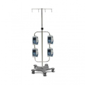 Bristol Maid High Capacity Four Hook Infusion Pump Stand