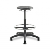 Bristol Maid High PU TechnoStools Medical Stool with Foot Ring and Glides