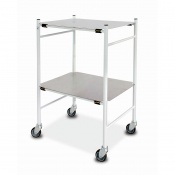 Bristol Maid Mild Steel Dressing Trolley with 450 x 600mm Removable Shelves