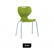Bristol Maid Mata Chair Black Four-Leg Waiting Room Seating