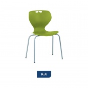 Bristol Maid Mata Chair Blue Four-Leg Waiting Room Seating