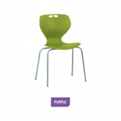 Bristol Maid Mata Chair Purple Four-Leg Waiting Room Seating