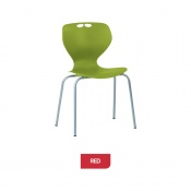 Bristol Maid Mata Chair Red Four-Leg Waiting Room Seating