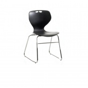 Bristol Maid Mata Chair Black Sled Base Waiting Room Seating